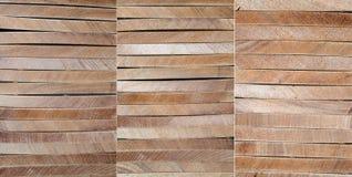 Layered wood backgrounds, set of 3 Stock Photo