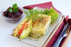 Layered zucchini Stock Images