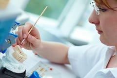 Layering ceramic inlays Stock Photos