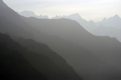 Layers. Mountain layers on a misty day Royalty Free Stock Photos