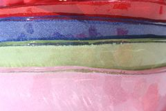 Layers. Four layers of color, pink, green, blue, and red Royalty Free Stock Photo