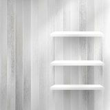 Layers Blank light wooden shelf. + EPS10 Stock Image
