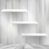 Layers Blank light wooden shelf. + EPS10 Stock Photography