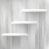 Layers Blank white wooden bookshelf. + EPS10 Royalty Free Stock Photos