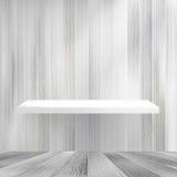 Layers Blank white wooden bookshelf. + EPS10 Royalty Free Stock Photos