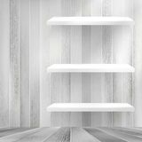 Layers Blank white wooden bookshelf. + EPS10 Royalty Free Stock Photography