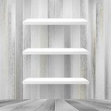 Layers Blank white wooden bookshelf. + EPS10 Royalty Free Stock Photography