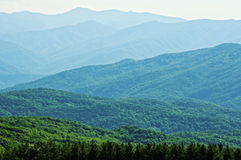 Layers of blue mountains in the Smokies. Layers of blue and green mountains in the Great Smoky Mountains stock image