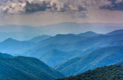 Layers of the Blue Ridge Mountains seen from the Blue Ridge Park Stock Images