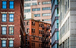 Layers of buildings in Boston, Massachusetts. Royalty Free Stock Images