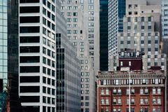 Layers of buildings in Manhattan, New York. Stock Image