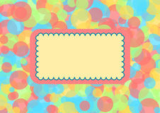 Layers of circles in pastel with large copyspace Stock Photo