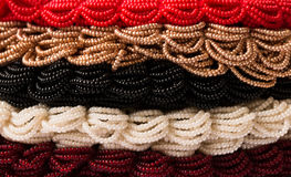 Layers of colored beads Stock Photos
