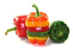 Layers of colorful peppers Royalty Free Stock Photo