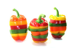 Layers of colorful peppers Royalty Free Stock Photography
