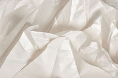 Layers of crumpled wax paper. Craft, handmade. Art background. Text space stock image