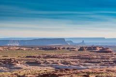 Layers of Desert Ridges. Behind flat desert terrain Royalty Free Stock Photos