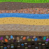 Layers of the earth abstract background Stock Image