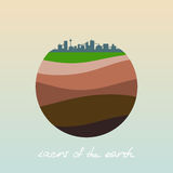 Layers of the earth. Royalty Free Stock Photography