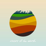 Layers of the earth. Royalty Free Stock Photos
