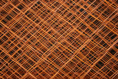 Layers of Fence. Mesmerizing burnt orange fence with many layers and depths stock photo