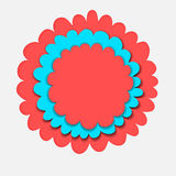Flower banner paper cut Royalty Free Stock Images