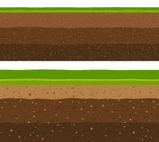 Layers of grass with Underground layers of earth. Layers of grass with Underground layers of earth, seamless ground surface design Royalty Free Stock Image