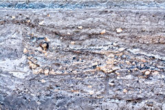 Layers of gray and brown soil Stock Photography