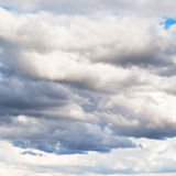 Layers of grey clouds in summer Stock Photography