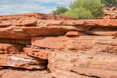 Layers in Kalbarri National Park royalty free stock photography