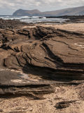Layers of Lava Rock Stock Image