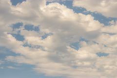 Layers of white clouds in blue sky Royalty Free Stock Photo