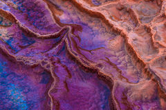 Layers of limestone travertine near the Crystal Geyser Utah Clos Stock Image