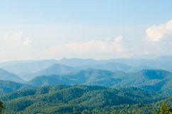 Layers of mountain. With a blue sky Royalty Free Stock Photography