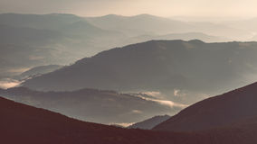 Layers of mountain Stock Photography
