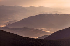 Layers of mountain Stock Images