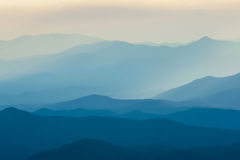 Layers of mountain. And fog Stock Image