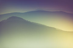 Layers of mountain and haze in the valleys. Royalty Free Stock Image