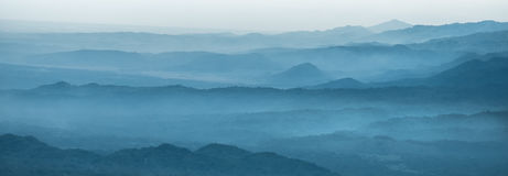 Layers of mountain. In indonesia Royalty Free Stock Photography