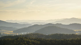 Layers of mountain in Korea Royalty Free Stock Photography