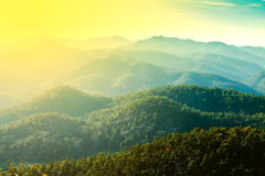 Layers of mountain, nature background Royalty Free Stock Image
