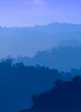 Layers of Mountain Ridge Stock Image