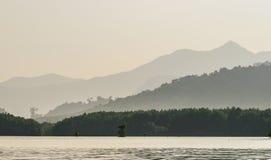 Layers of mountain ridges silhouettes Stock Photo
