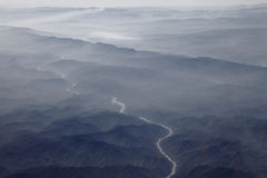 Layers of mountain and river beautiful landscape. Royalty Free Stock Photography