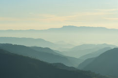 Layers of mountain Royalty Free Stock Image
