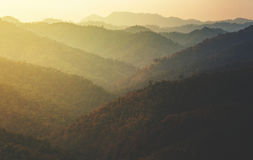 Layers of mountain. Vintage tone stock images
