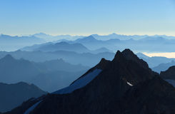 Layers of mountains Royalty Free Stock Photography
