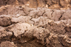 Layers of mud Royalty Free Stock Photography