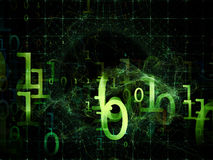 Layers of Numbers Stock Image
