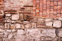 Layers of an old wall Royalty Free Stock Images